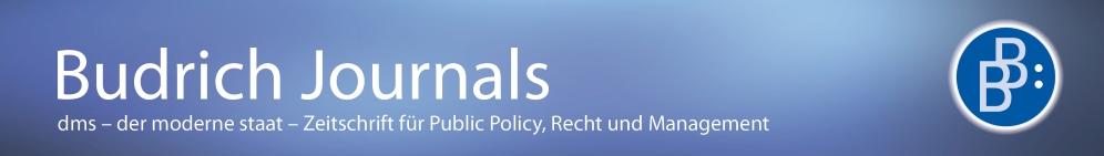 der moderne staat – Zeitschrift für Public Policy, Recht und Management